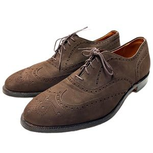 Alden Chocolate Brown Suede Oxfords Lace Up Shoes